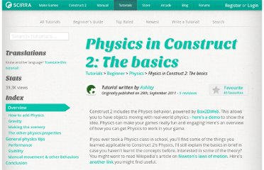 https://www.scirra.com/tutorials/64/physics-in-construct-2-the-basics
