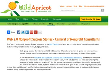 http://www.wildapricot.com/blogs/newsblog/2008/05/05/web-2-0-nonprofit-success-stories-carnival-of-nonprofit-consultants#