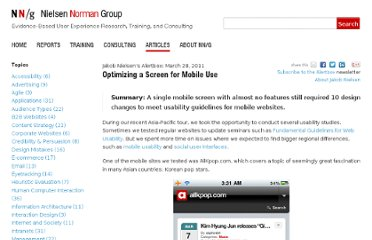 http://www.nngroup.com/articles/optimizing-a-screen-for-mobile-use/
