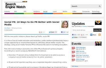 http://searchenginewatch.com/article/2065514/Social-PR-10-Ways-to-Do-PR-Better-with-Social-Media