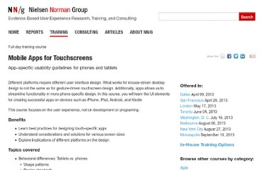 http://www.nngroup.com/courses/mobile-apps-touchscreens/