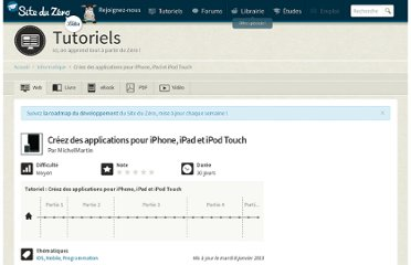 http://www.siteduzero.com/informatique/tutoriels/creez-des-applications-pour-iphone-ipad-et-ipod-touch