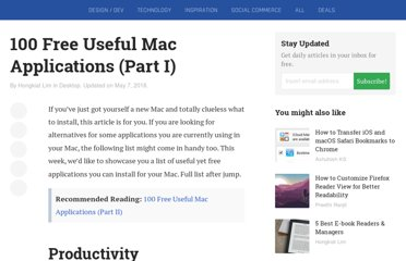 http://www.hongkiat.com/blog/100-free-useful-applications-for-mac-part-i/