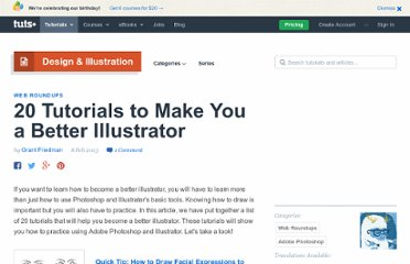 http://psd.tutsplus.com/articles/web/20-tutorials-to-make-you-a-better-illustrator/
