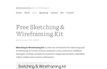 http://www.jankoatwarpspeed.com/free-sketching-wireframing-kit/