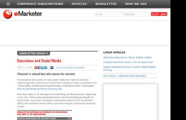 http://www.emarketer.com/Article/Executives-Social-Media/1007266