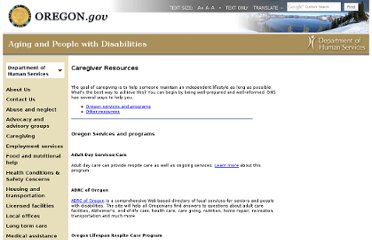http://www.oregon.gov/DHS/spwpd/Pages/caregiving/resources.aspx#oregon