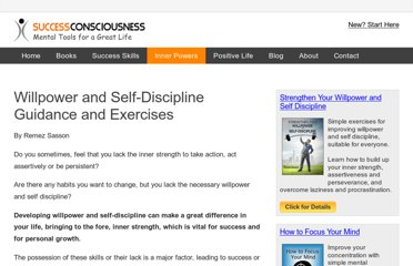 http://www.successconsciousness.com/willpower-self-discipline.html
