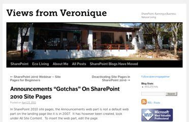 http://veroniquepalmer.com/2011/04/23/announcements-gotchas-on-sharepoint-2010-site-pages/