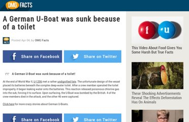 http://www.omg-facts.com/History/A-German-U-Boat-Was-Sunk-Because-Of-A-To/30015