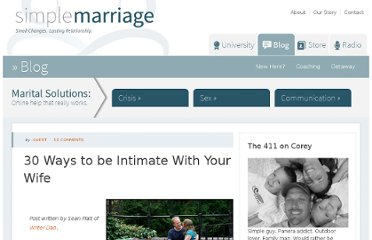 http://simplemarriage.net/30-ways-to-be-intimate-with-your-wife/