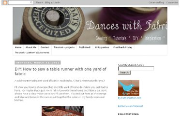 http://sharonsews.blogspot.com/2011/03/diy-how-to-sew-table-runner-with-one.html