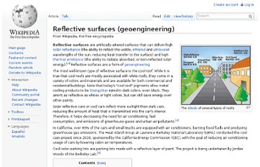 http://en.wikipedia.org/wiki/Reflective_surfaces_(geoengineering)