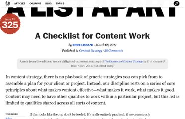 http://alistapart.com/article/a-checklist-for-content-work