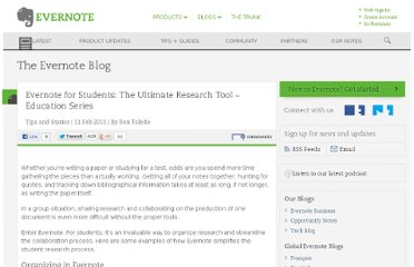 http://blog.evernote.com/blog/2011/02/11/evernote-for-students-the-ultimate-research-tool-education-series/
