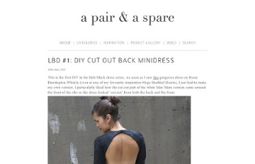 http://apairandasparediy.com/2011/06/lbd-1-diy-cut-out-back-minidress.html