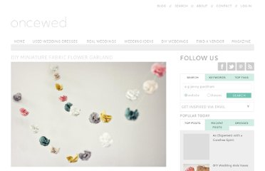 http://www.oncewed.com/diy-wedding-blog/diy-miniature-fabric-flower-garland/