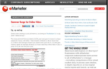 http://www.emarketer.com/Article/Summer-Surge-Online-Video/1007247
