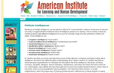 http://institute4learning.com/multiple_intelligences.php