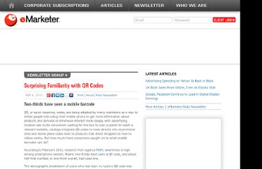 http://www.emarketer.com/Article/Surprising-Familiarity-with-QR-Codes/1008318