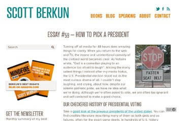http://scottberkun.com/essays/how-to-pick-a-president/