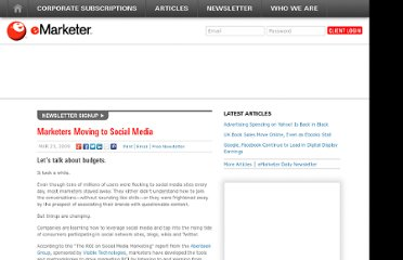 http://www.emarketer.com/Article/Marketers-Moving-Social-Media/1006989