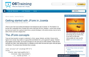 http://www.ostraining.com/blog/how-tos/development/getting-started-with-jform/