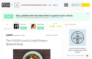 http://www.good.is/posts/the-good-lunch-lentil-potato-spinach-soup