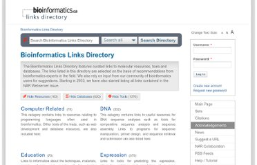 http://bioinformatics.ca/links_directory/