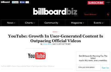 http://www.billboard.com/biz/articles/news/1178328/youtube-growth-in-user-generated-content-is-outpacing-official-videos