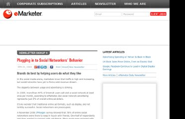 http://www.emarketer.com/Article/Plugging-Social-Networkers-Behavior/1006925