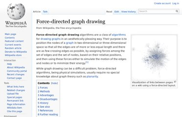 http://en.wikipedia.org/wiki/Force-directed_graph_drawing