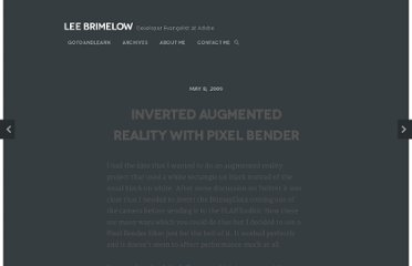 http://www.leebrimelow.com/inverted-augmented-reality-with-pixel-bender/
