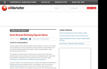 http://www.emarketer.com/Article/Social-Network-Marketing-Expands-Sphere/1007252