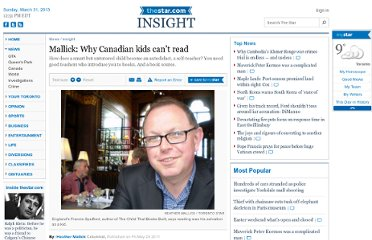 http://www.thestar.com/news/insight/2011/05/20/mallick_why_canadian_kids_cant_read.html