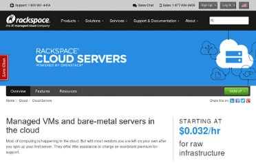 http://www.rackspace.com/cloud/servers/compare/