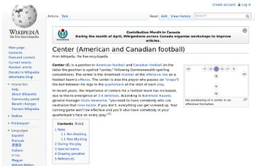 http://en.wikipedia.org/wiki/Center_(American_and_Canadian_football)