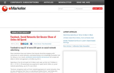 http://www.emarketer.com/Article/Facebook-Social-Networks-Greater-Share-of-Online-Ad-Spend/1008669