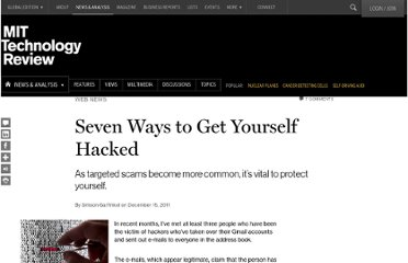 http://www.technologyreview.com/news/426369/seven-ways-to-get-yourself-hacked/