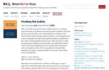 http://www.nngroup.com/books/prioritizing-web-usability/