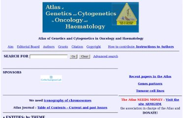 http://atlasgeneticsoncology.org//index.html