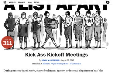 http://alistapart.com/article/kick-ass-kickoff-meetings