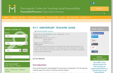 http://www.morningsidecenter.org/teachable-moment/lessons/911-anniversary-teaching-guide