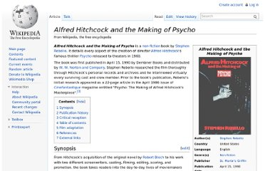 http://en.wikipedia.org/wiki/Alfred_Hitchcock_and_the_Making_of_Psycho