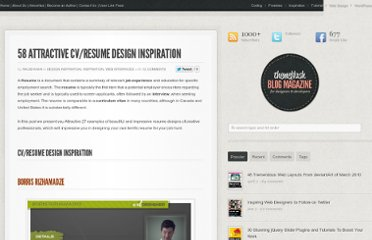 http://themeflash.com/58-attractive-cvresume-design-inspiration/