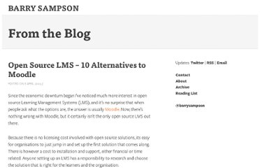 http://www.barrysampson.com/2009/04/open-source-lms-10-alternatives-to-moodle/
