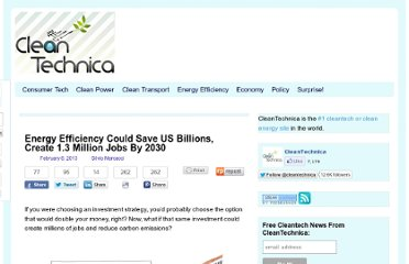 http://cleantechnica.com/2013/02/08/us-could-double-energy-productivity-and-save-billions-by-2030/