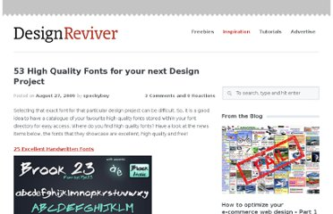 http://designreviver.com/inspiration/53-high-quality-fonts-for-your-next-design-project/