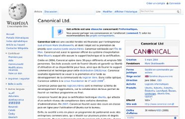 http://fr.wikipedia.org/wiki/Canonical_Ltd.