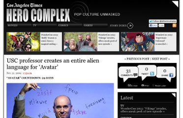 http://herocomplex.latimes.com/uncategorized/usc-professor-creates-alien-language-for-avatar/